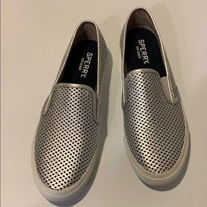 Sperry perforated slip ons